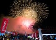 21일 밤 경주 실내체육관 옆 특설무대에서 펼쳐진 이스탄불 in 경주 폐막 축하 불꽃